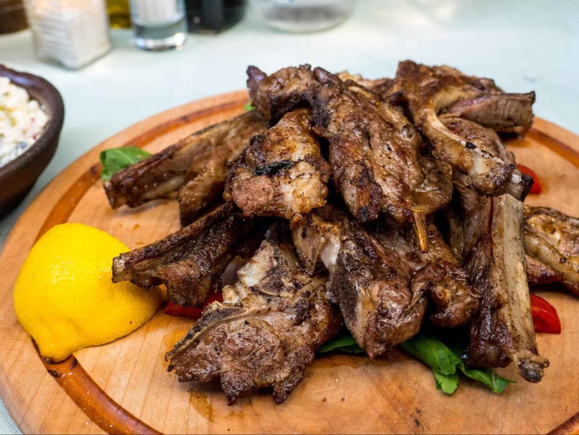 Grilled lamb