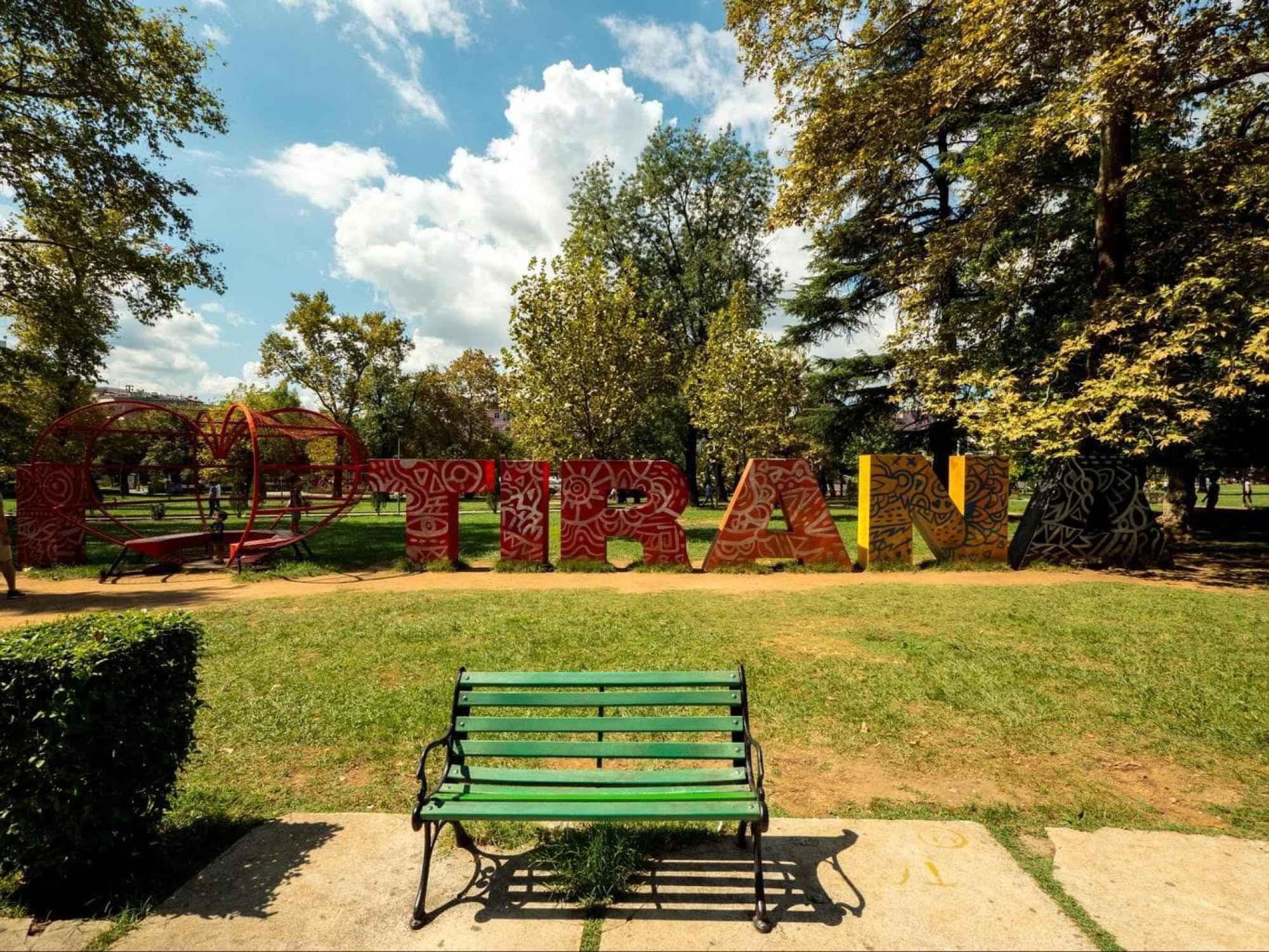 I love Tirana sign