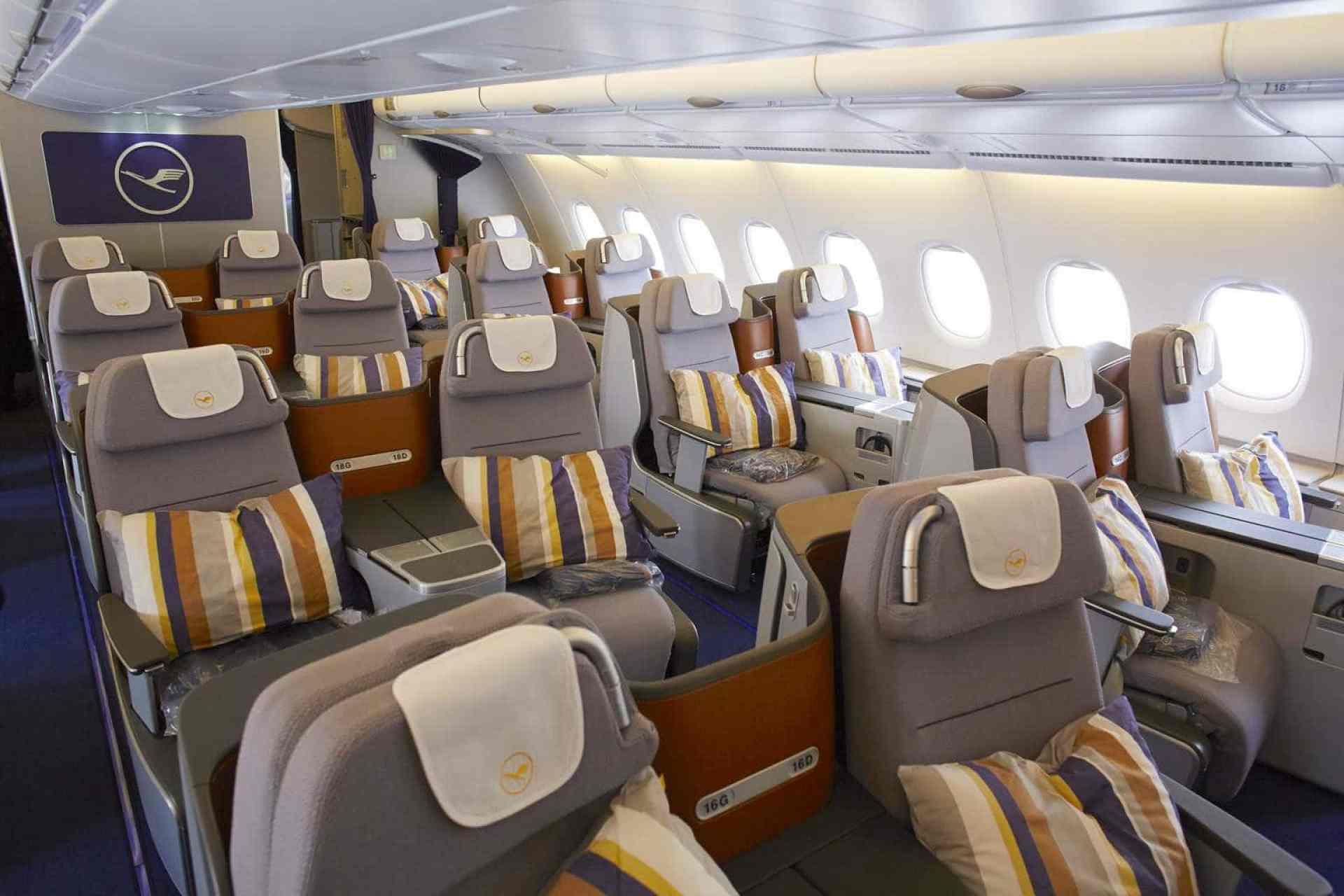 Lufthansa A380 Business Class seating