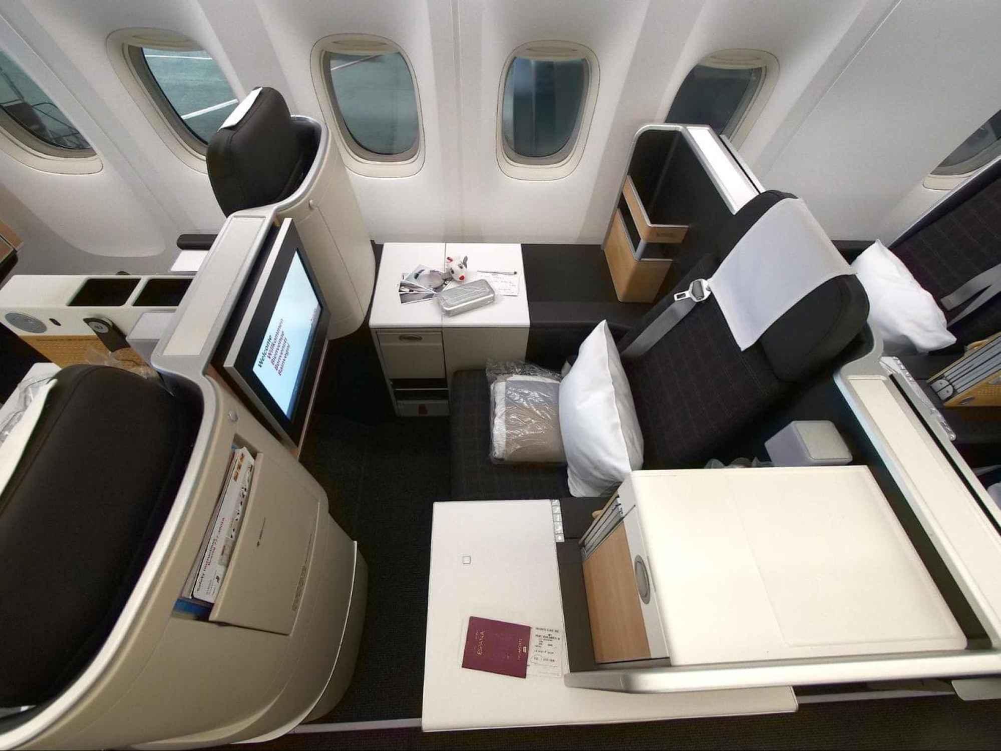 Swiss Business Class throne seats