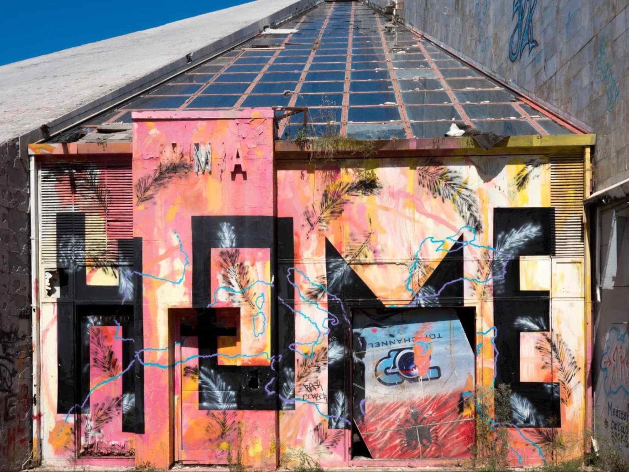 The graffiti on Tirana's Pyramid