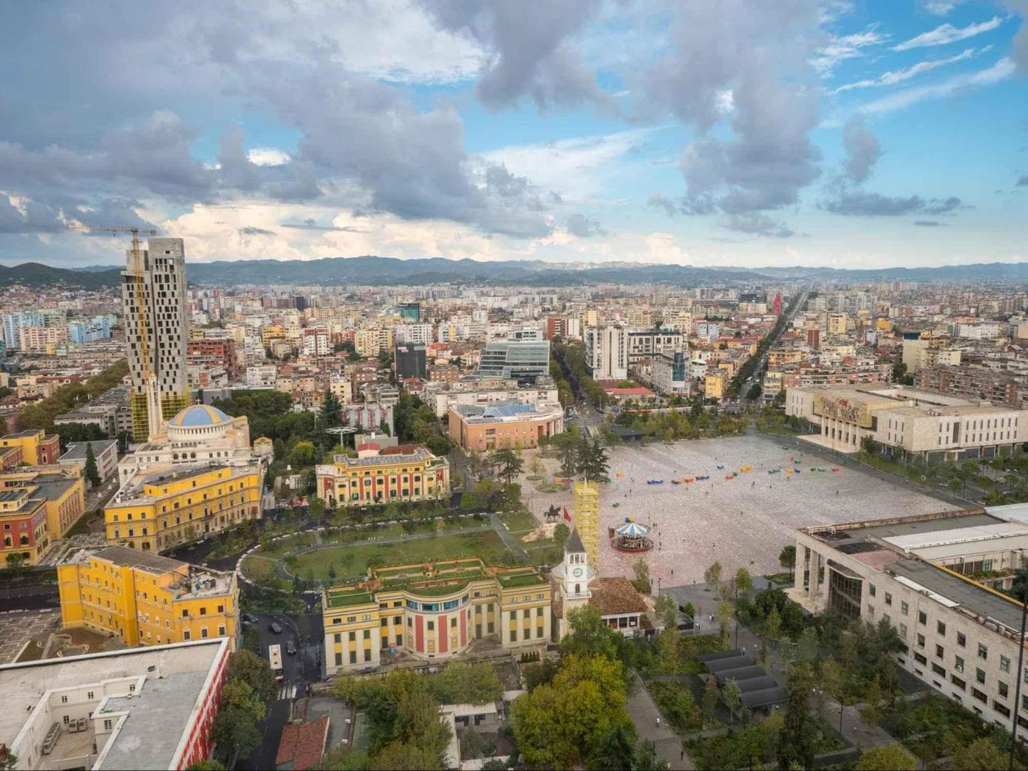 The views from The Plaza Tirana