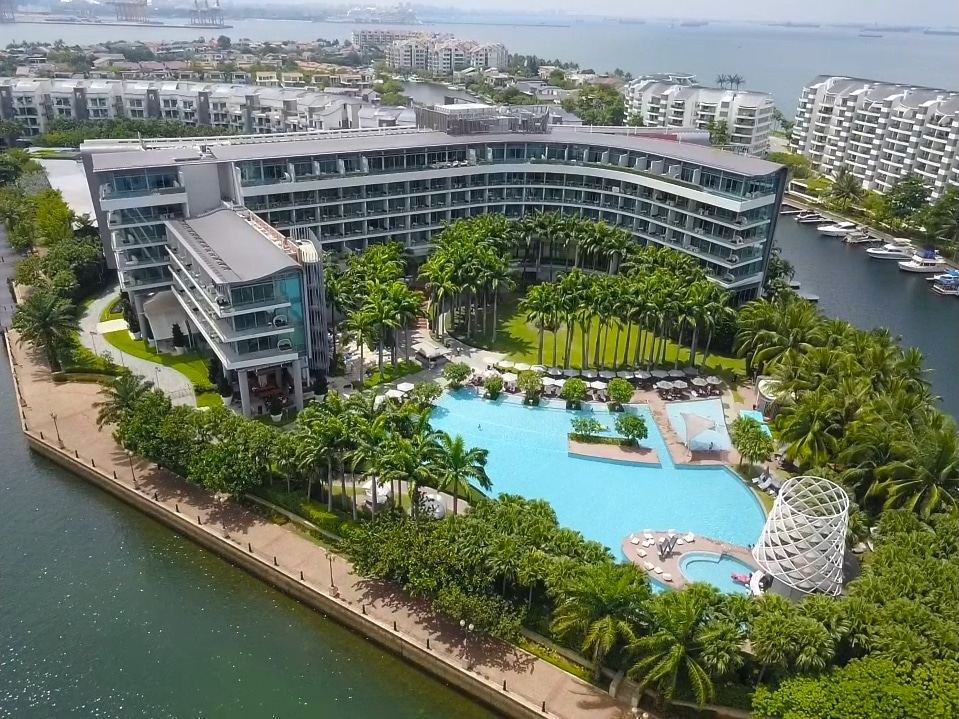 W Singapore - Sentosa Cove from the air
