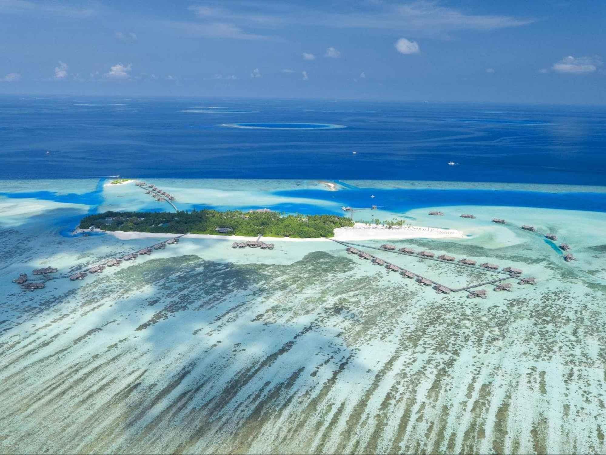 Aerial shot of Gili - Courtesy of Gili Lankanfushi