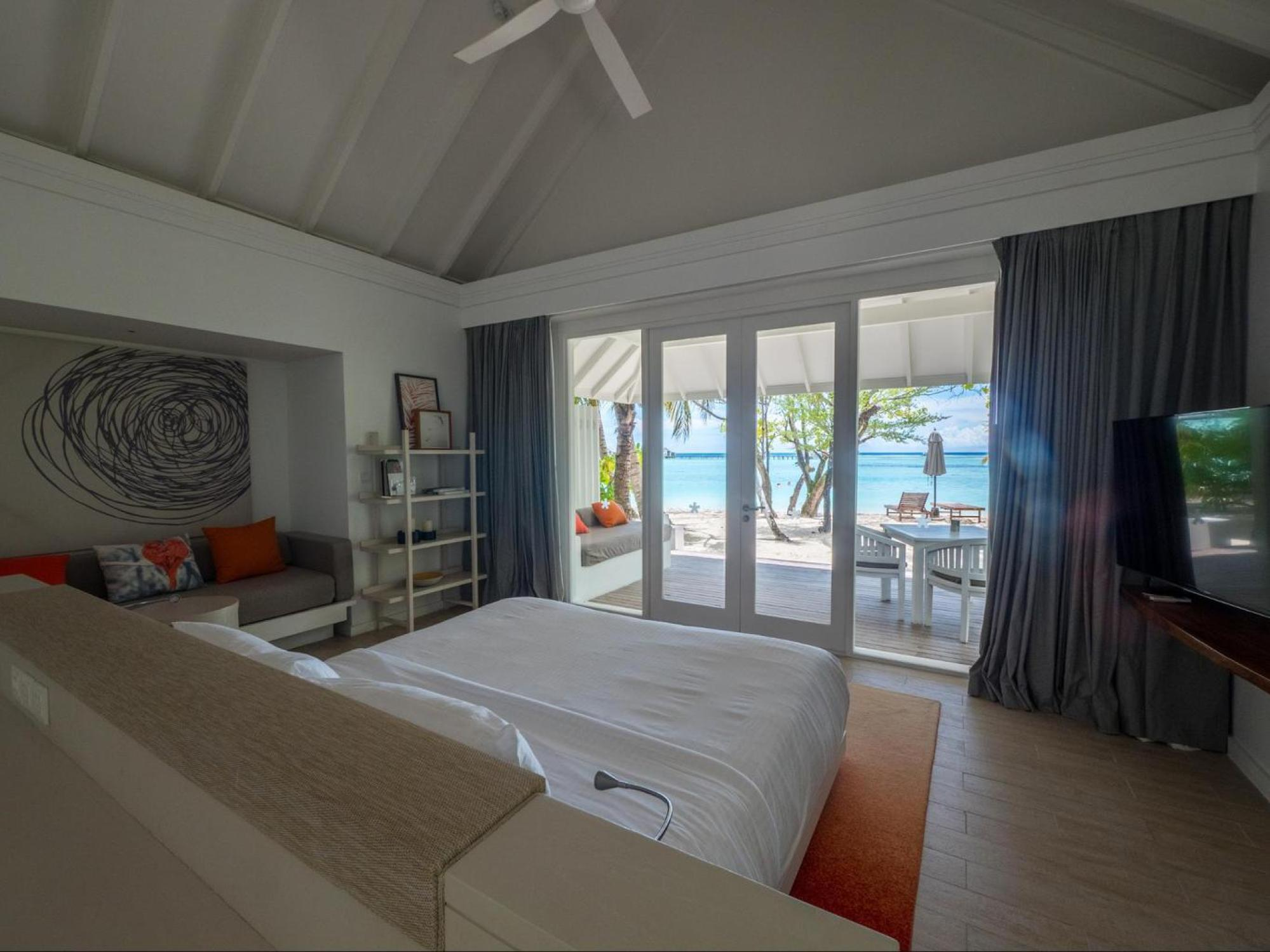 Beach villa at LUX* Maldives South Ari Atoll