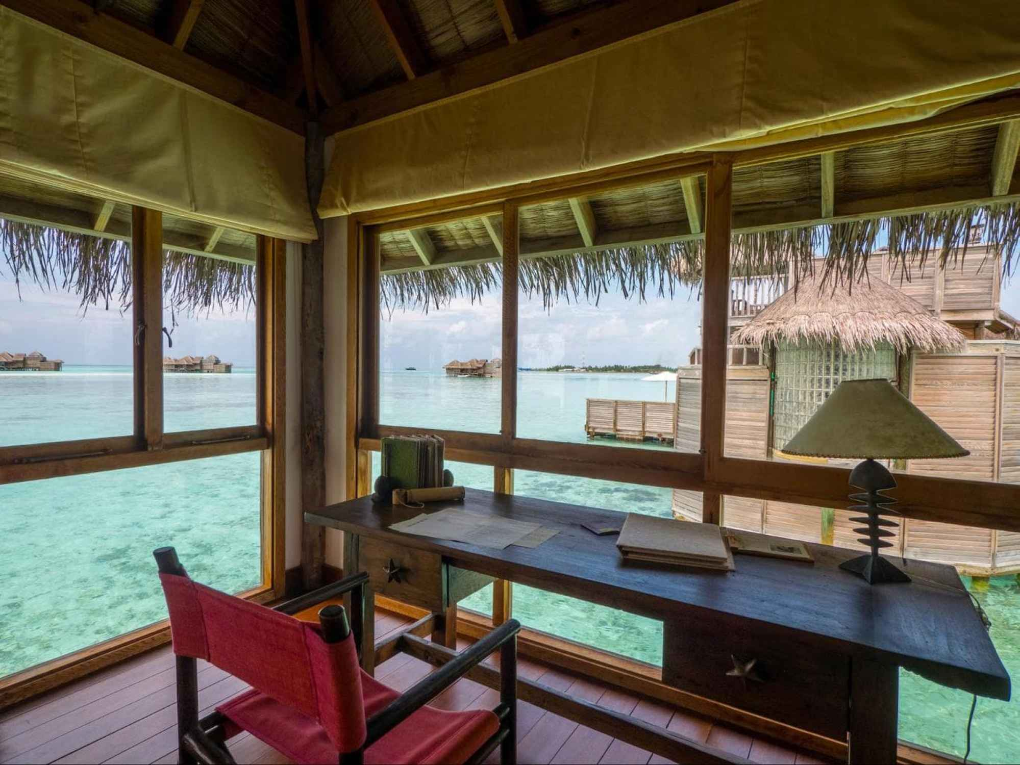 Bedroom at Gili Lankanfushi Villa Suite 01