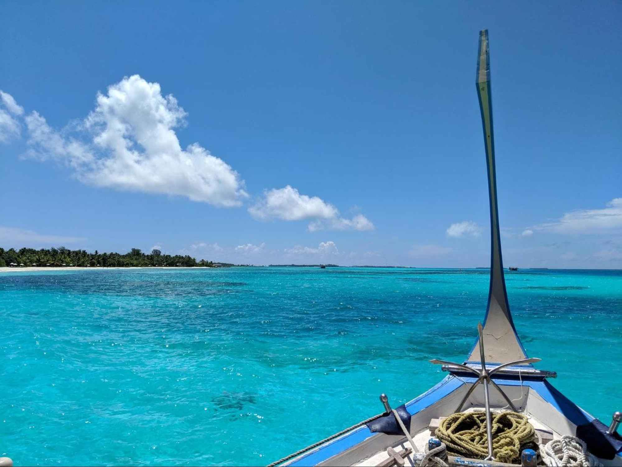 Dhoni boat from LUX* Maldives