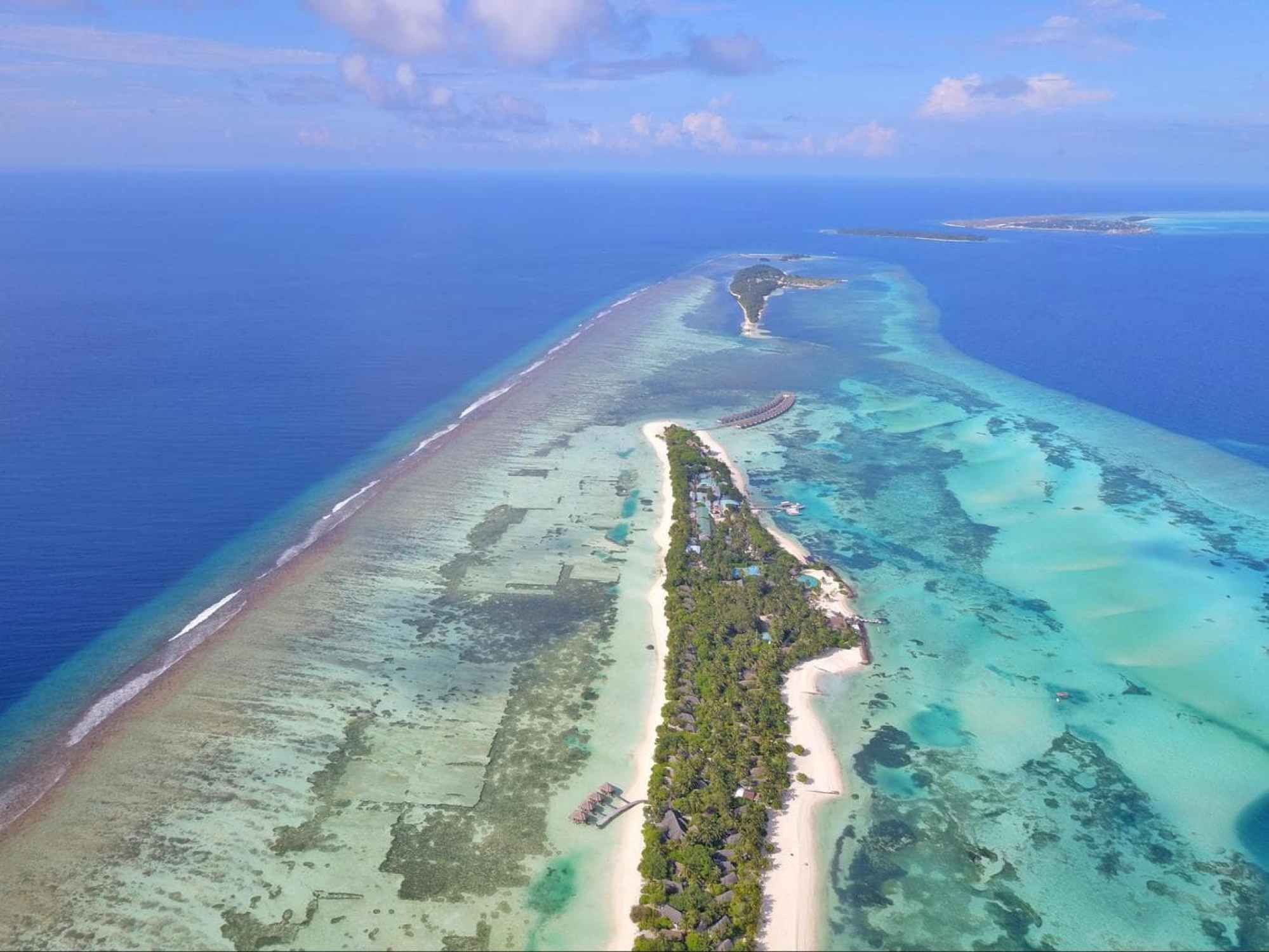 LUX* Maldives from the sky