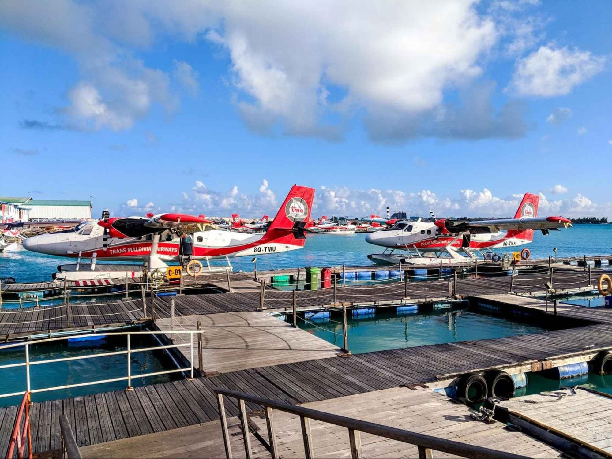 Our seaplane to LUX* Maldives