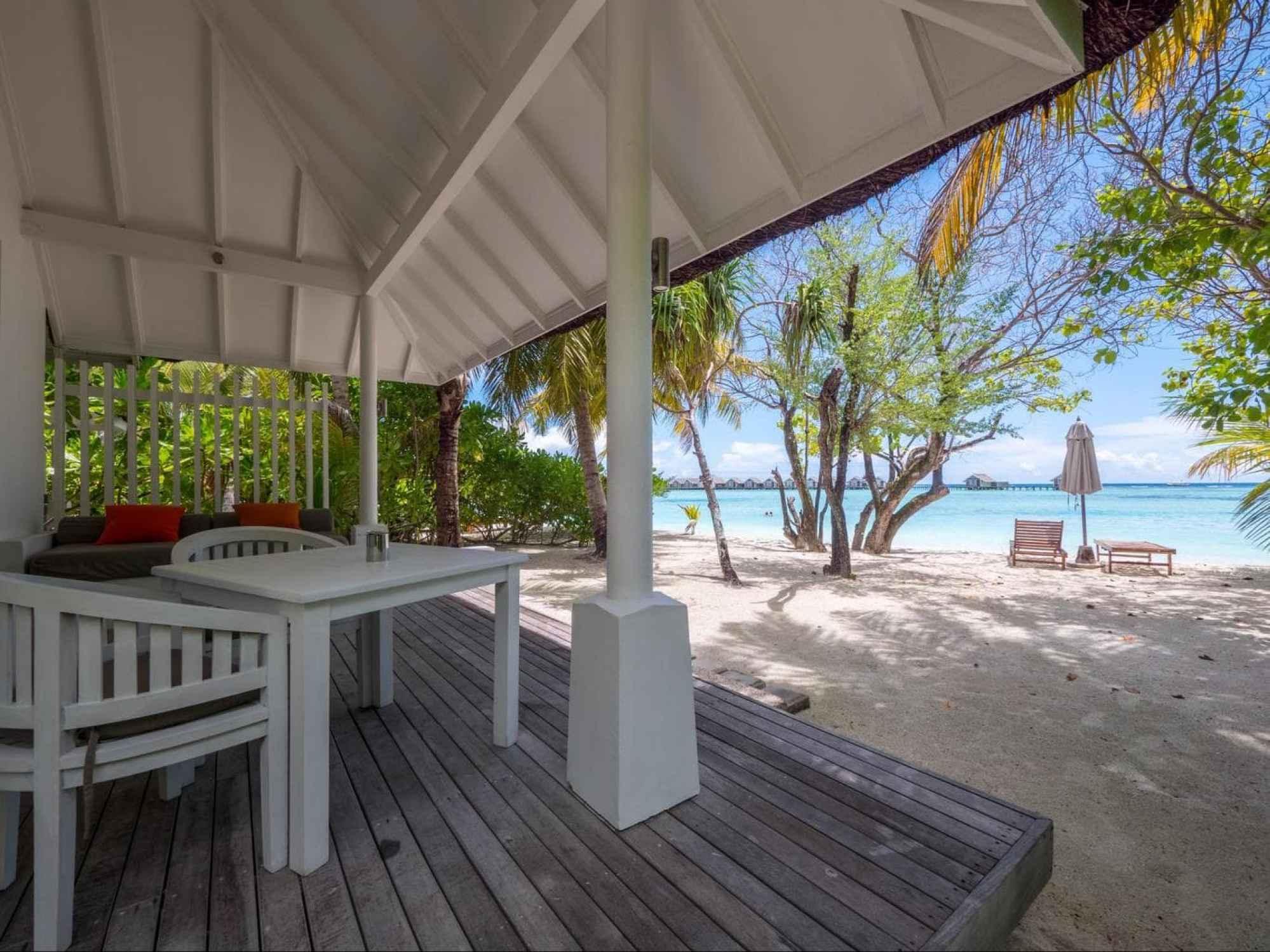 Outdoor areas of the Beach villas
