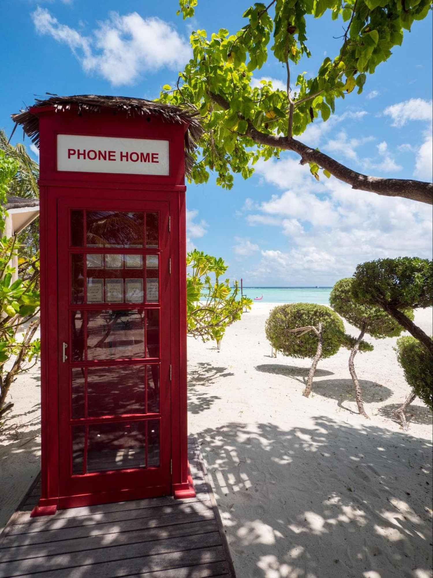 Phone booth to call home at LUX*