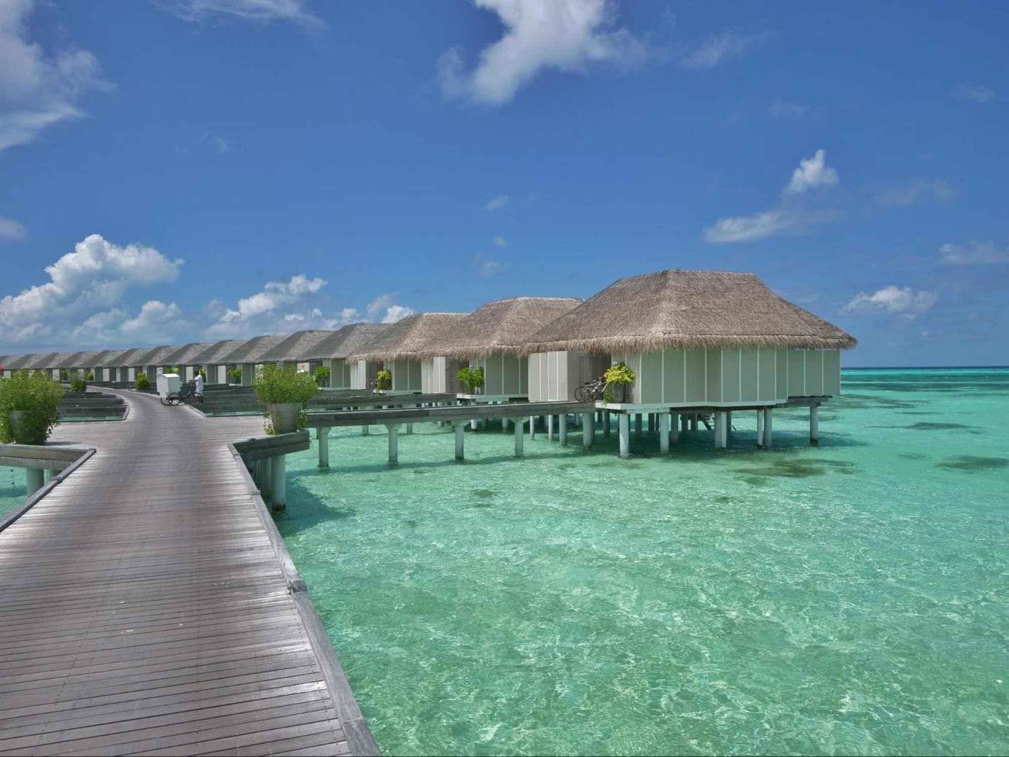 Water villas at LUX* Maldives South Ari Atoll