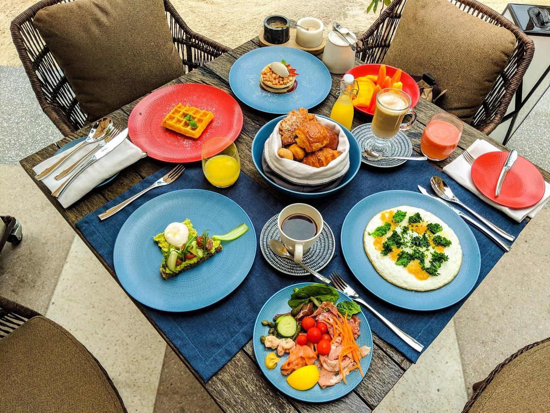 Breakfast spread at Joali Maldives