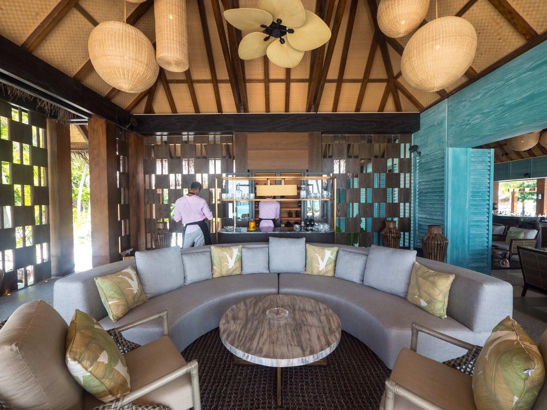 The cigar and whiskey bar at Joali Maldives