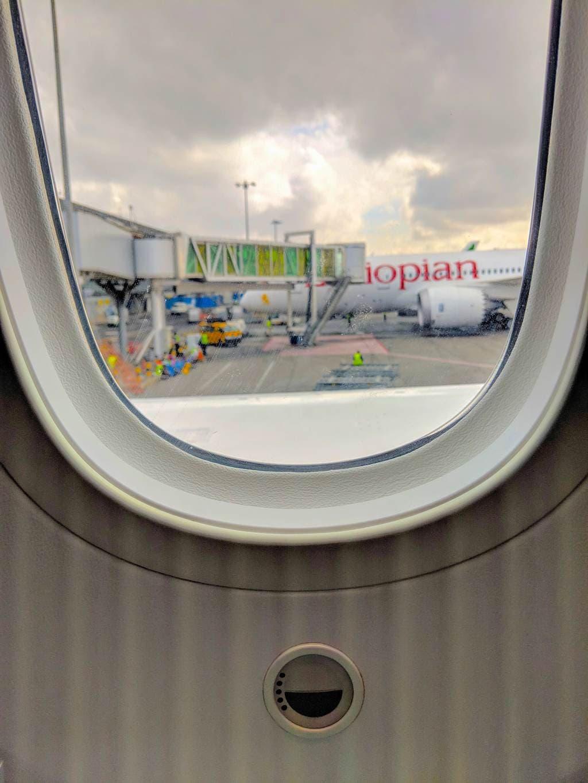 New Ethiopian Airlines Boeing 787 window
