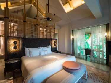 The four bedroom beach villa at Joali Maldives