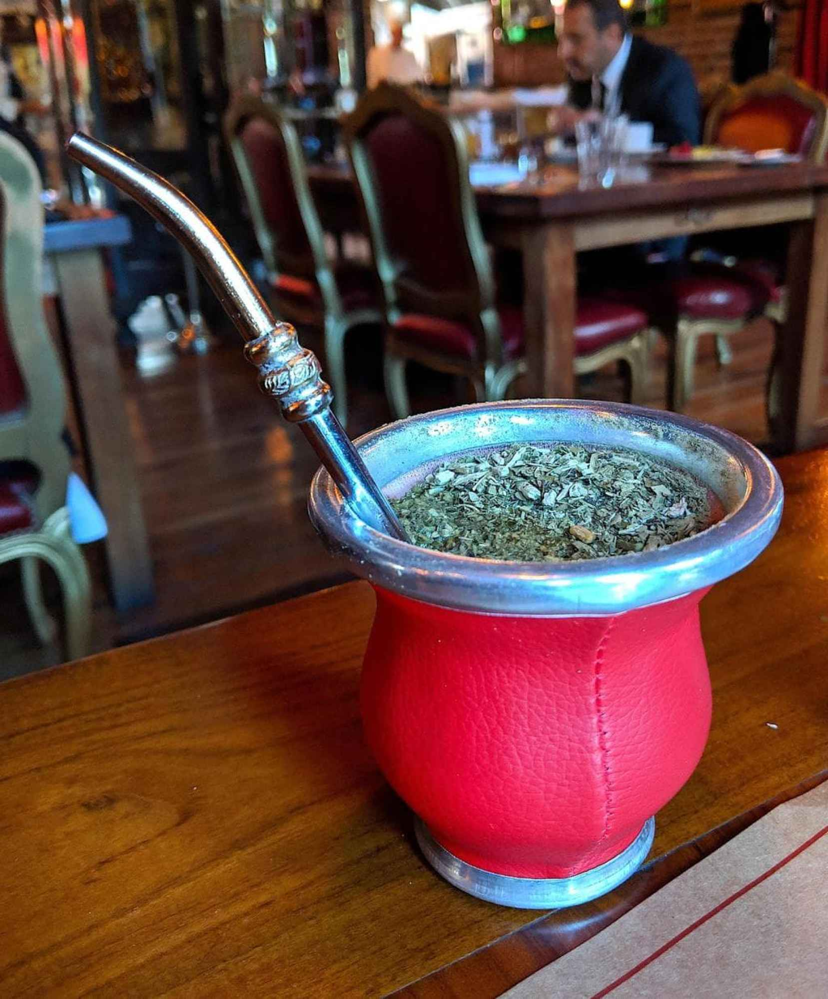 Mate herb, cup and straw
