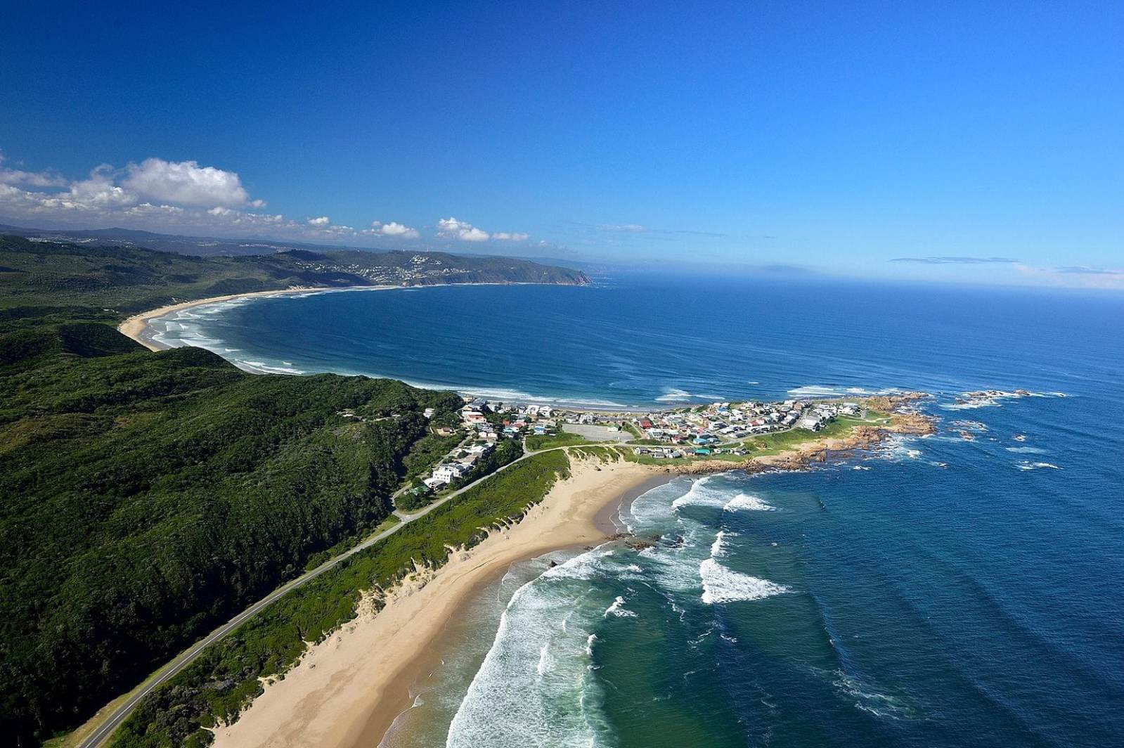 Buffels Bay and Brenton-on-Sea from the air