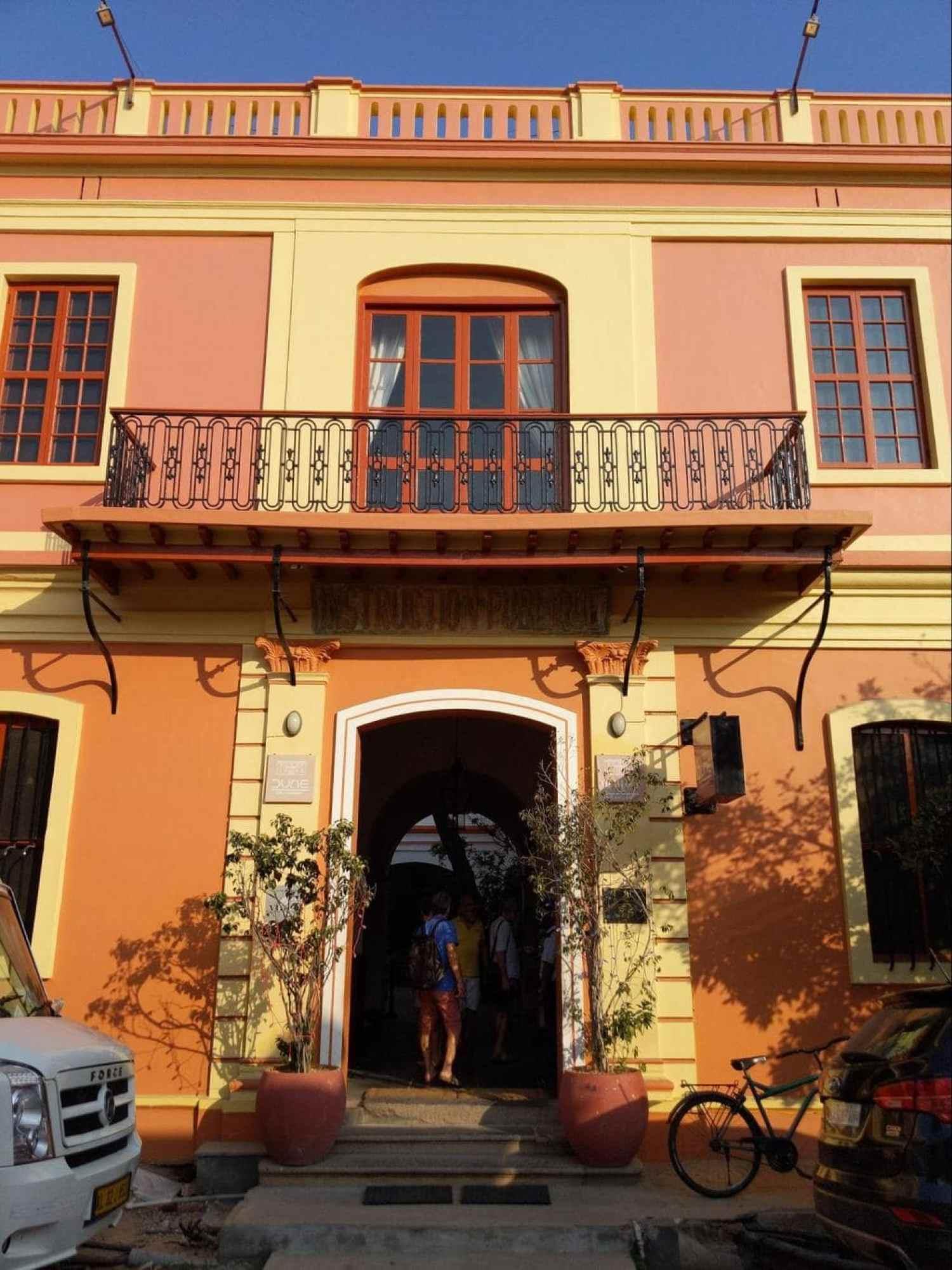 French Quarter building in Pondicherry