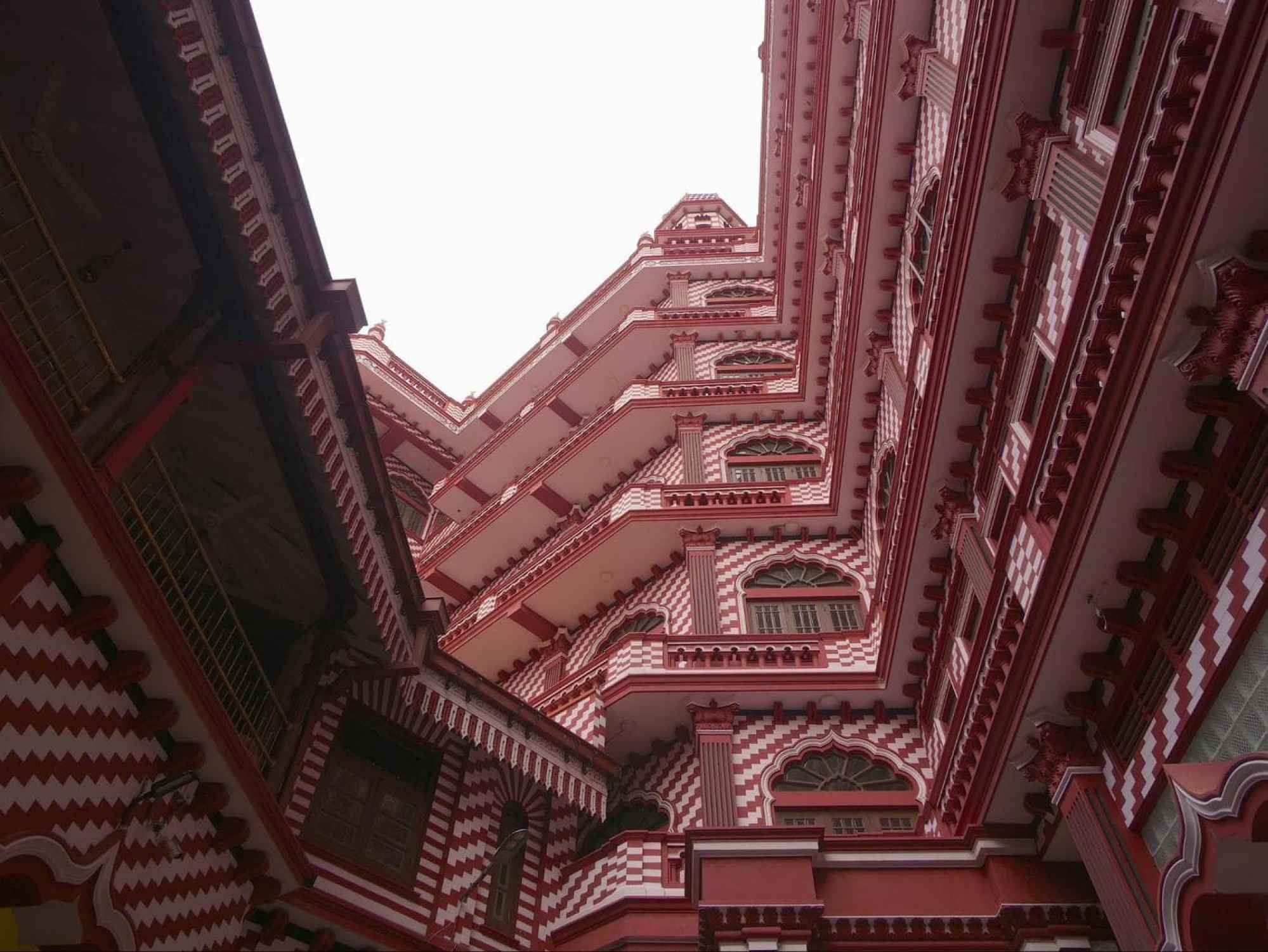 Inside the Red Mosque in Colombo