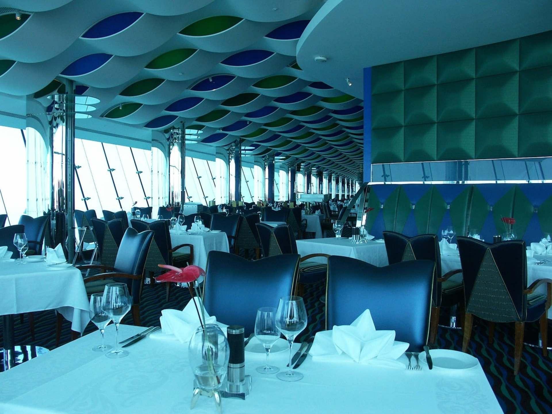 The restaurant at the top floor of the Burj Al Arab