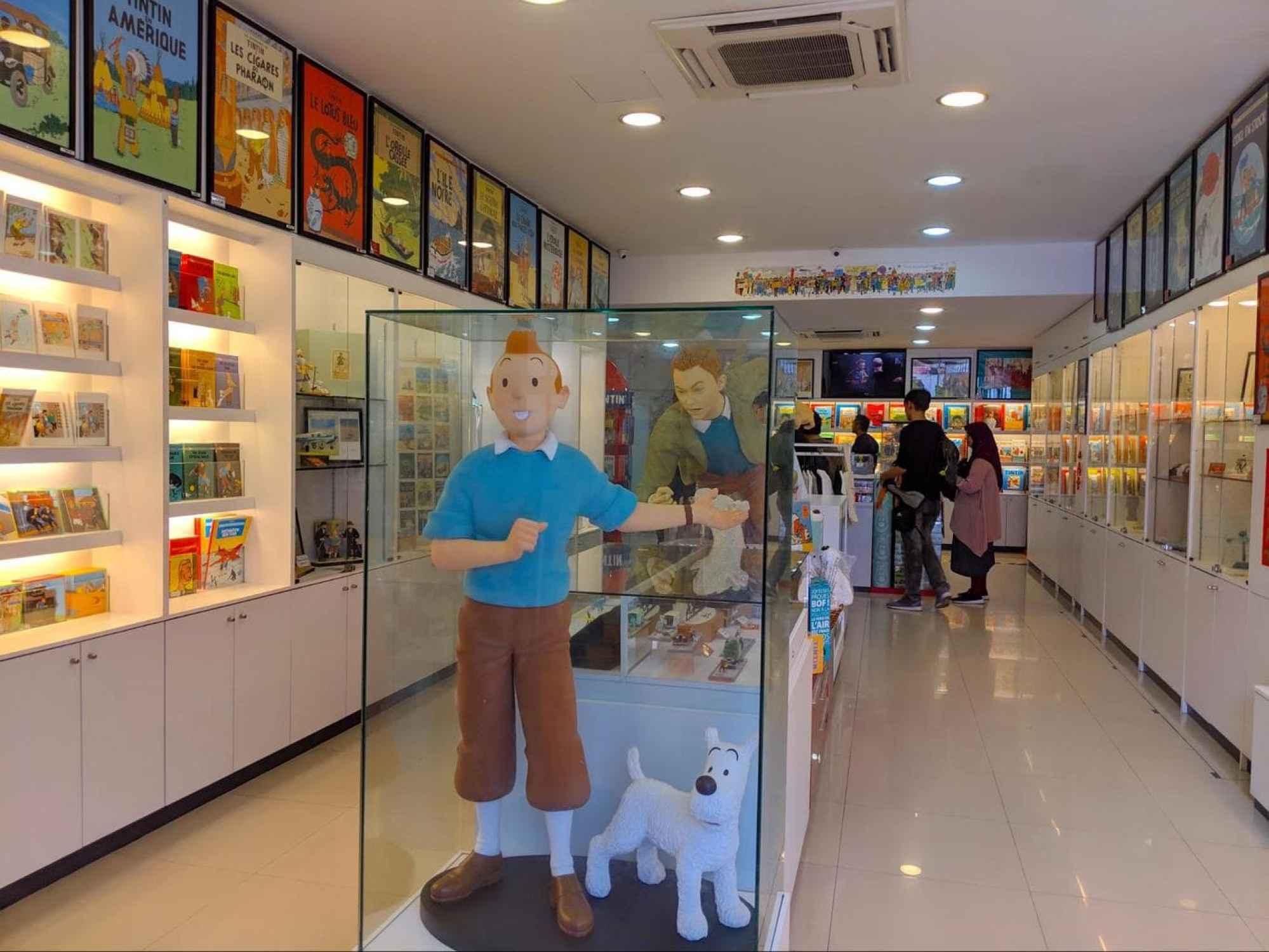 Tintin Shop interior