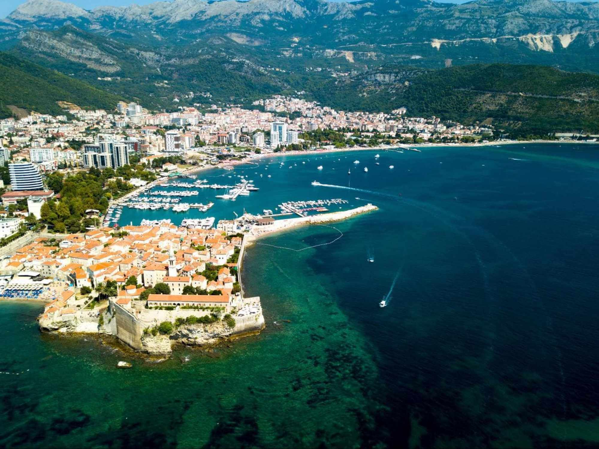 Budva Old Town ocean views