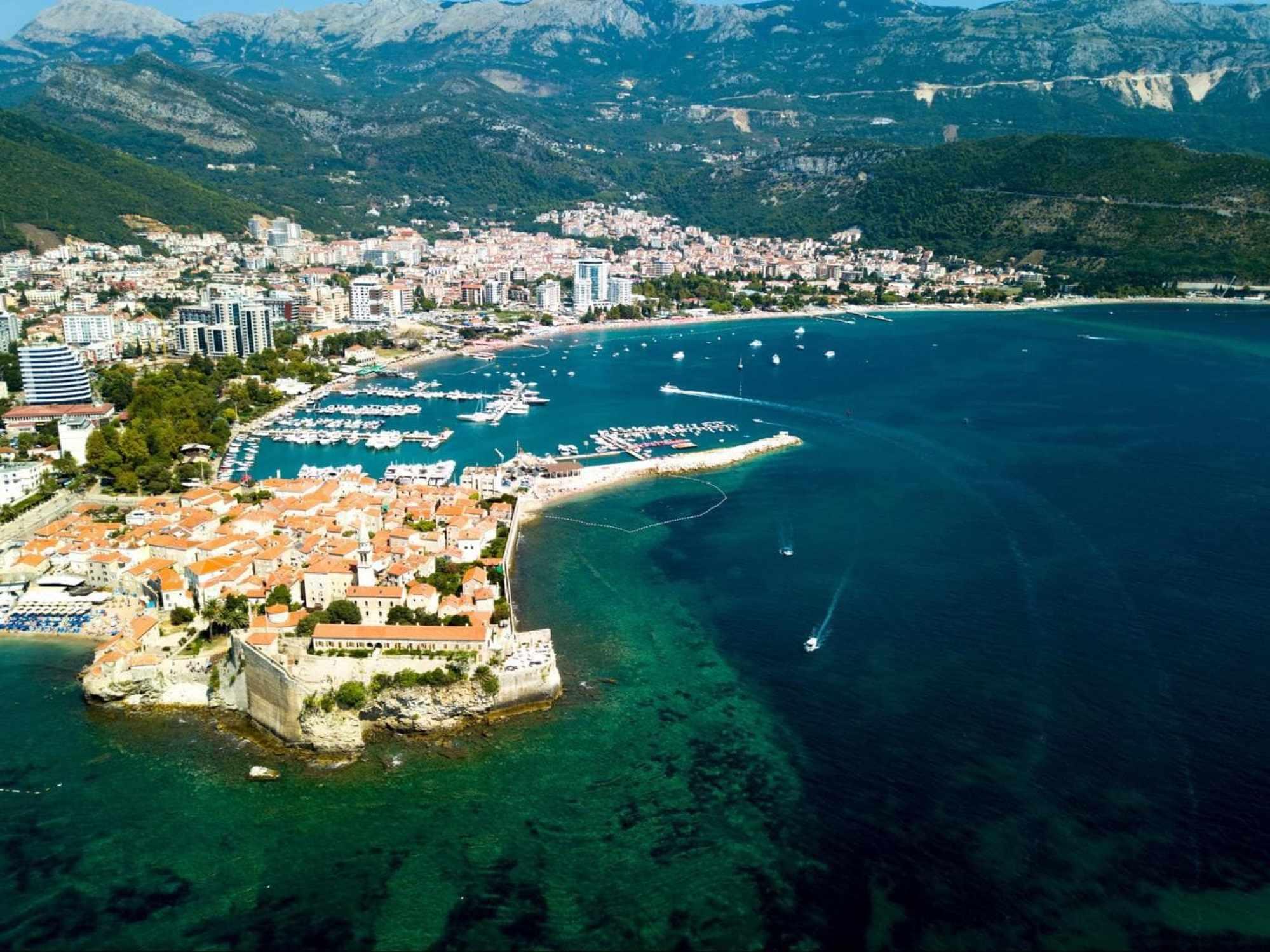 Budva Old Town ocean views