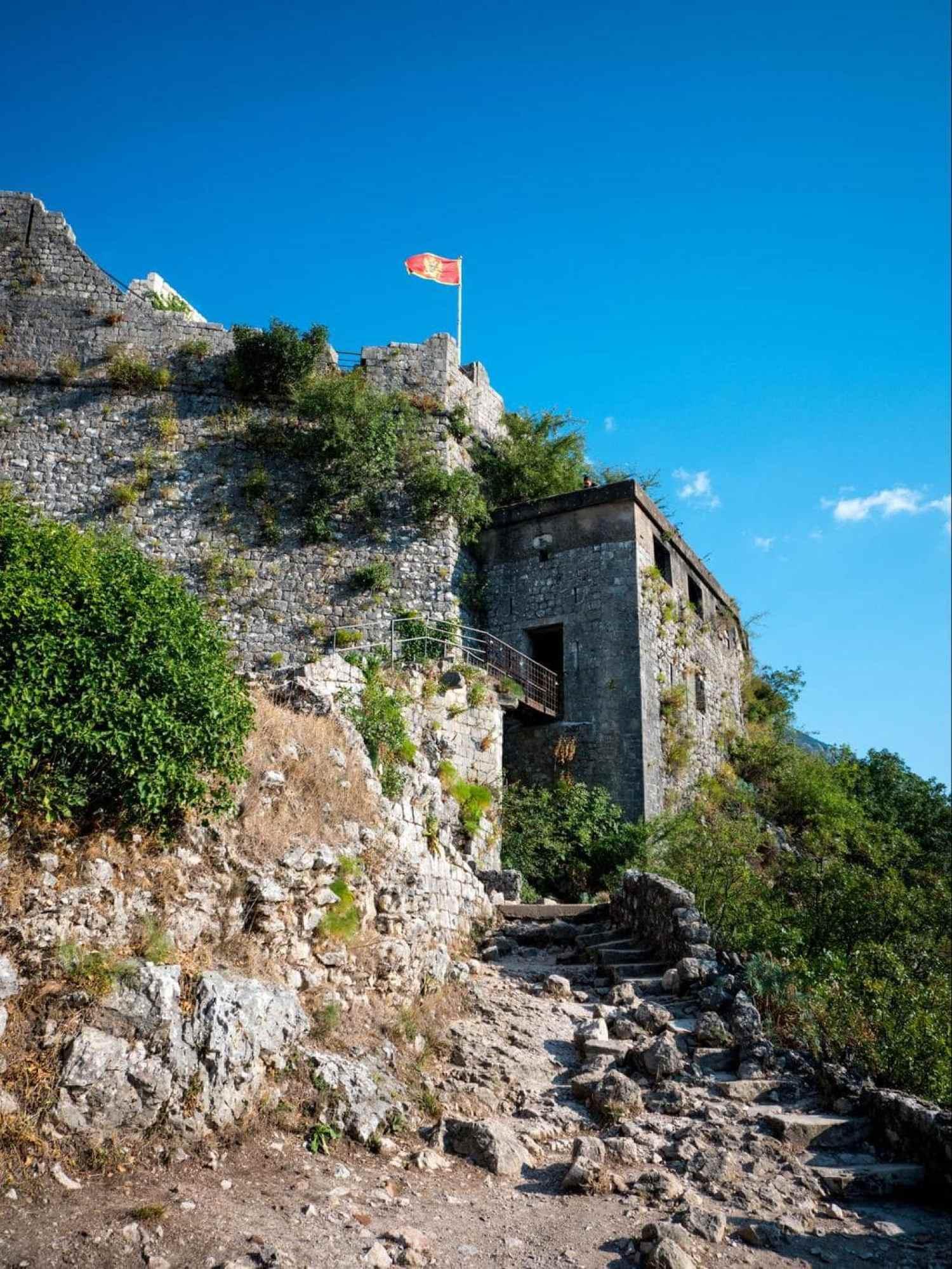 Kotor fortress flag