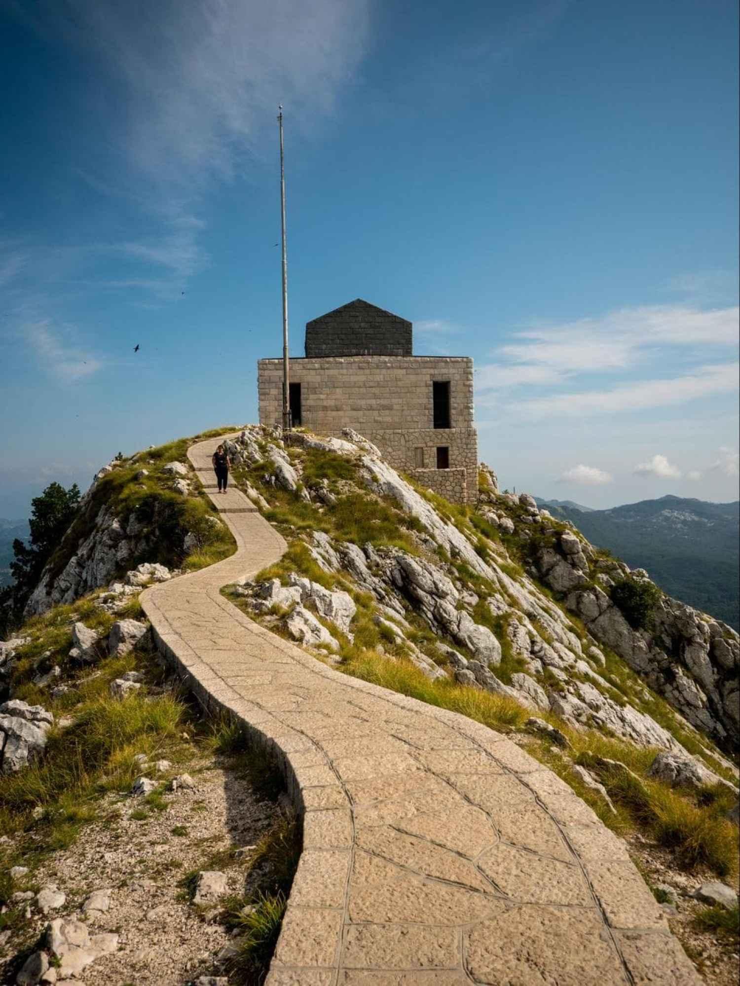 Mausoleum of Petar II Petrovic-Njegos walkway