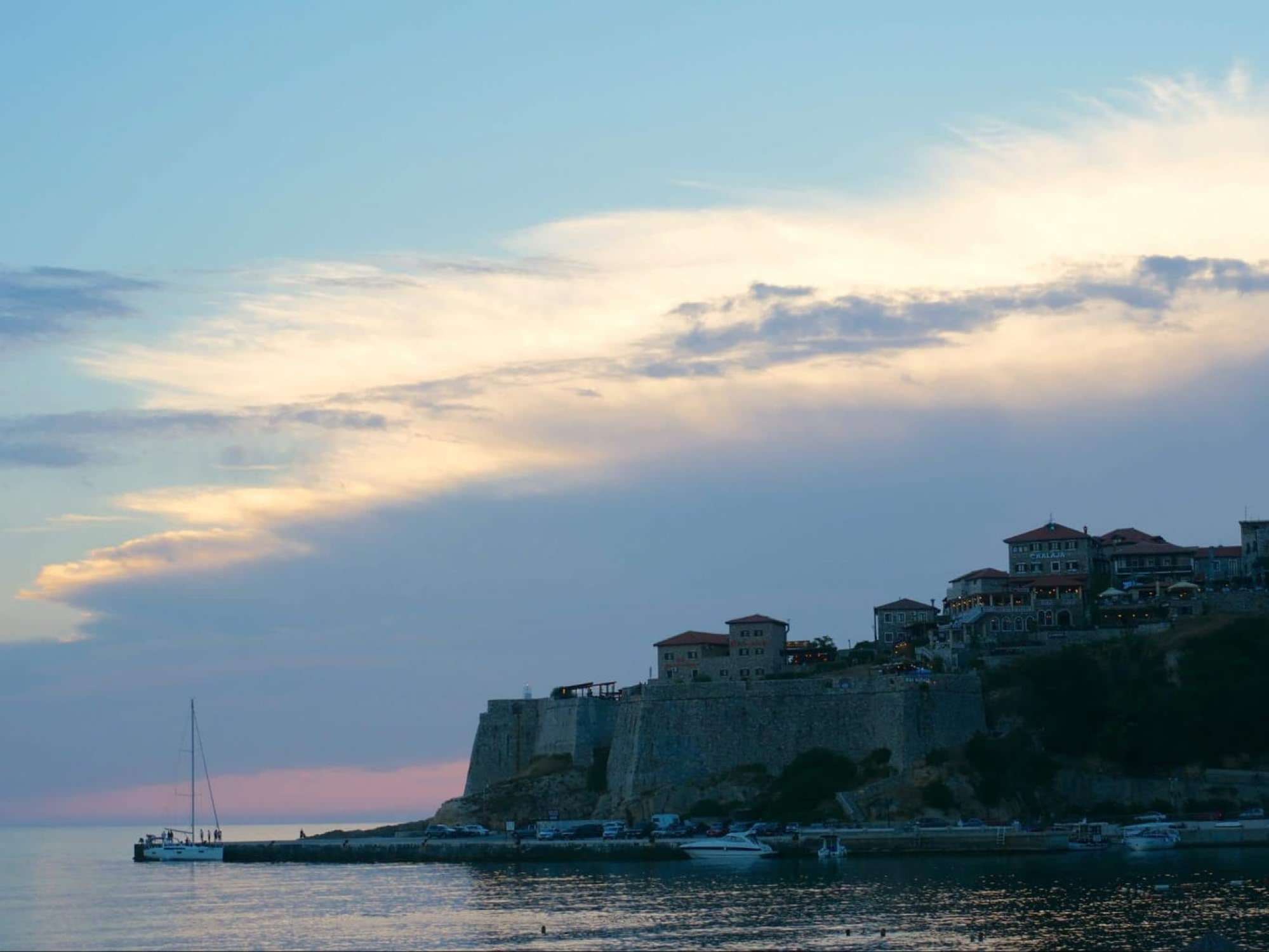 Stari Ulcinj at sunset