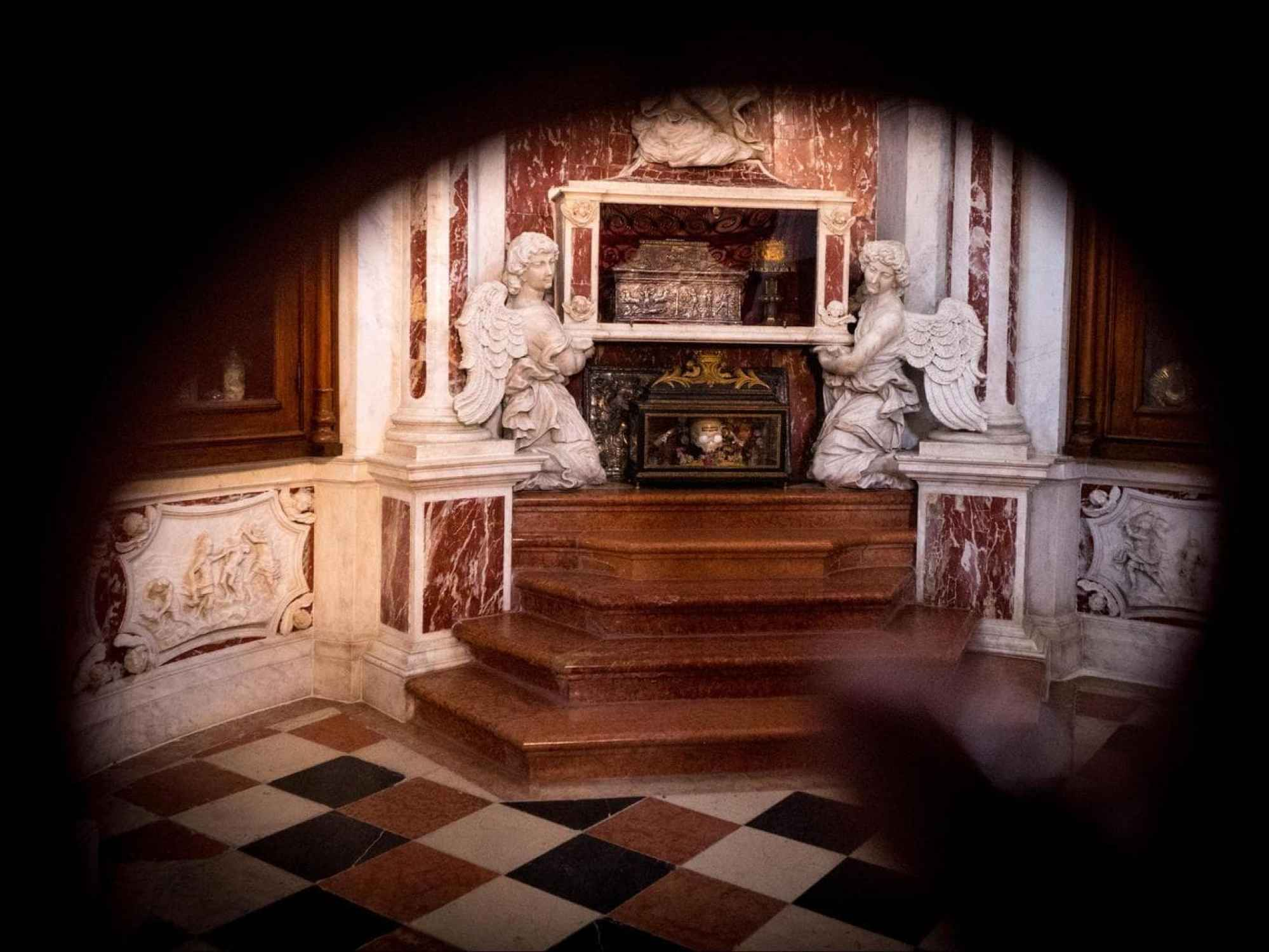The relics of St. Tryphon