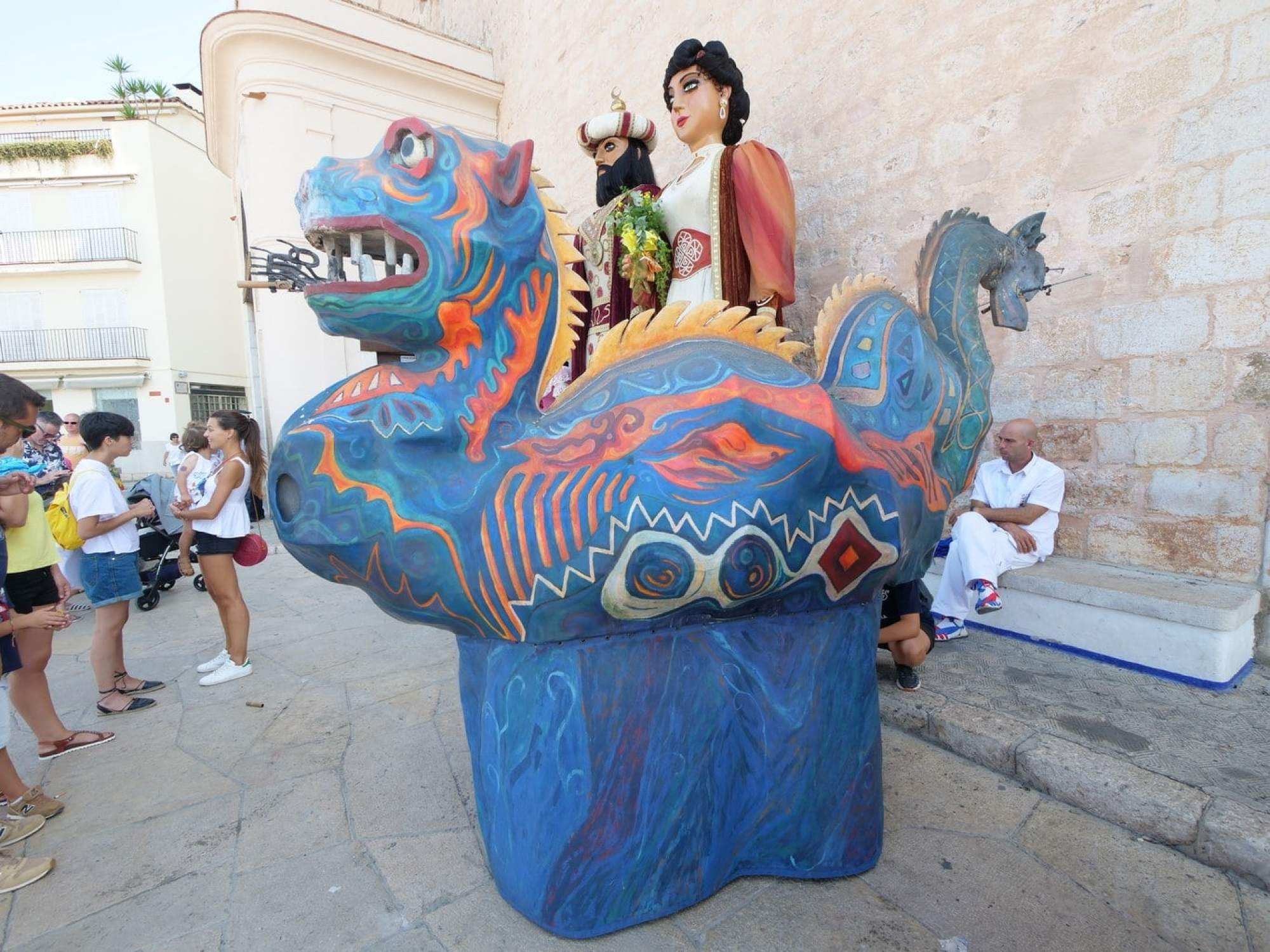 """Papier Mache characters at Sitges Festa Major"""