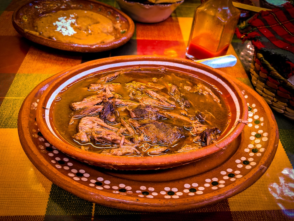 Birria is a goat or lamb stew