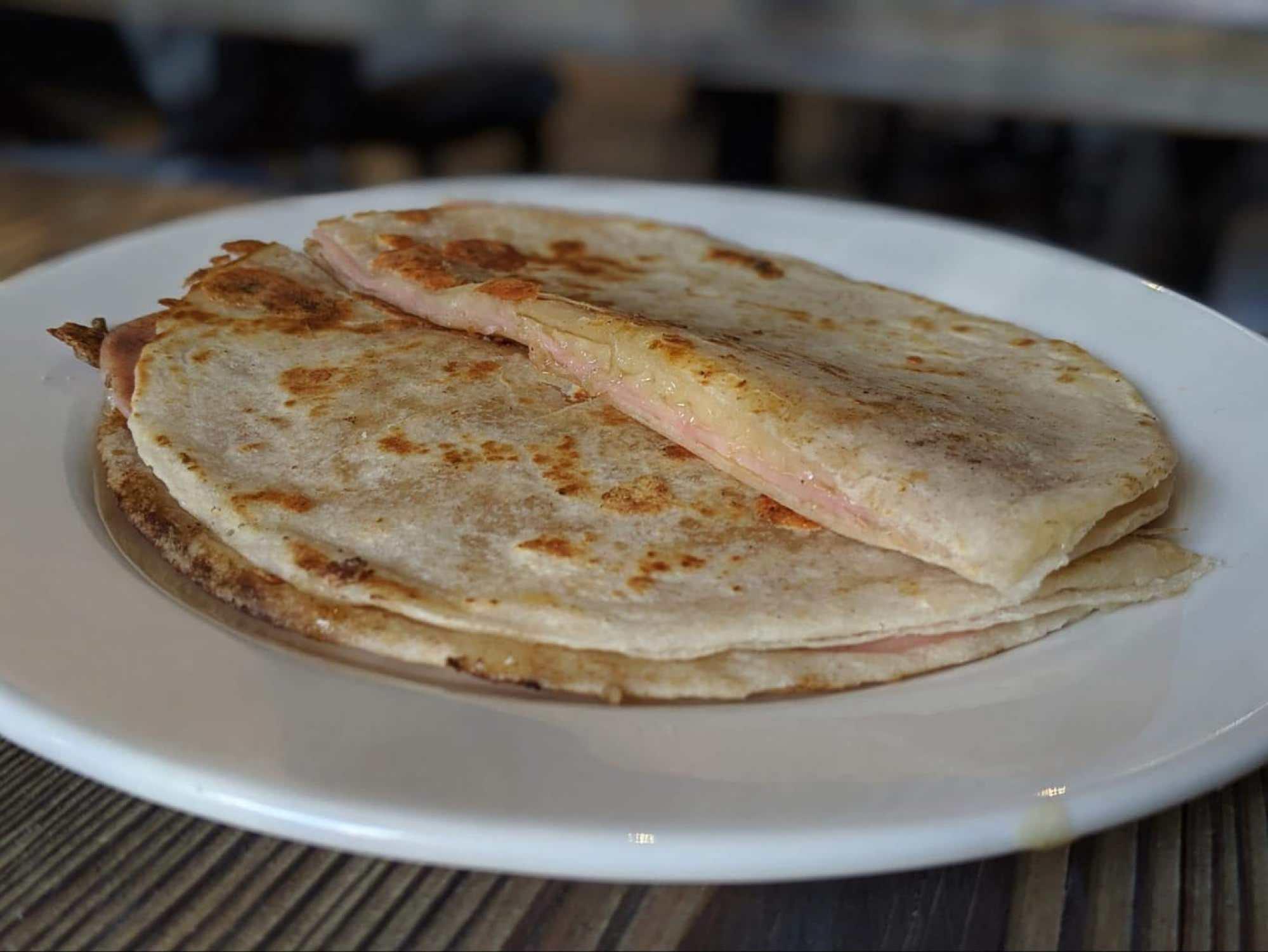Sincronizadas are breakfast quesadillas