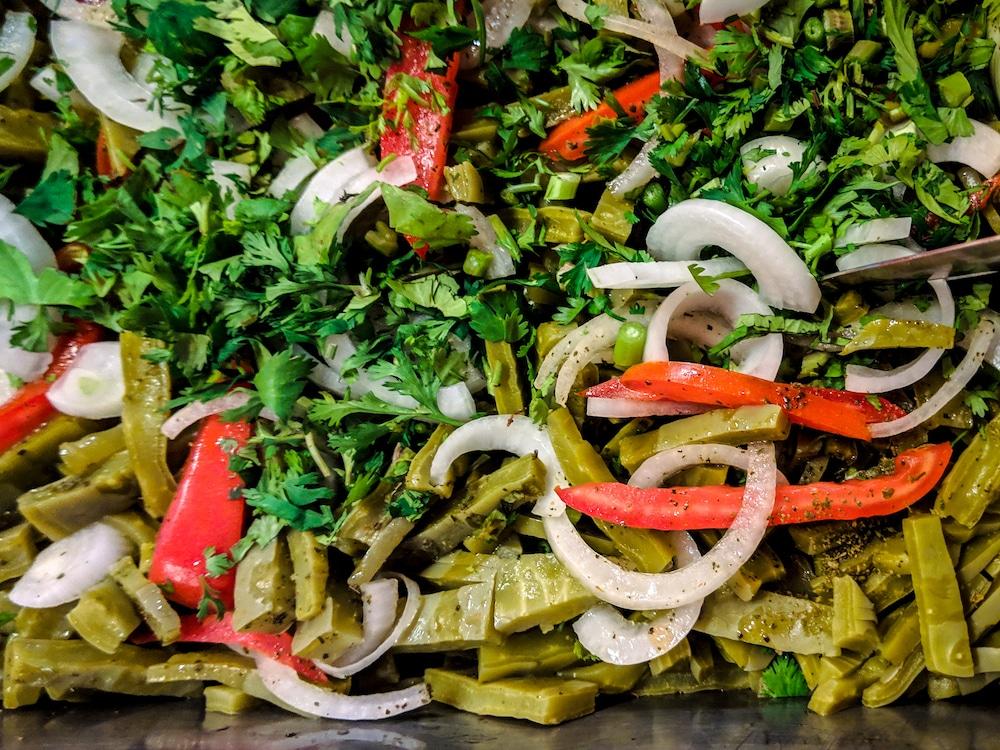 Traditional Mexican nopal salad