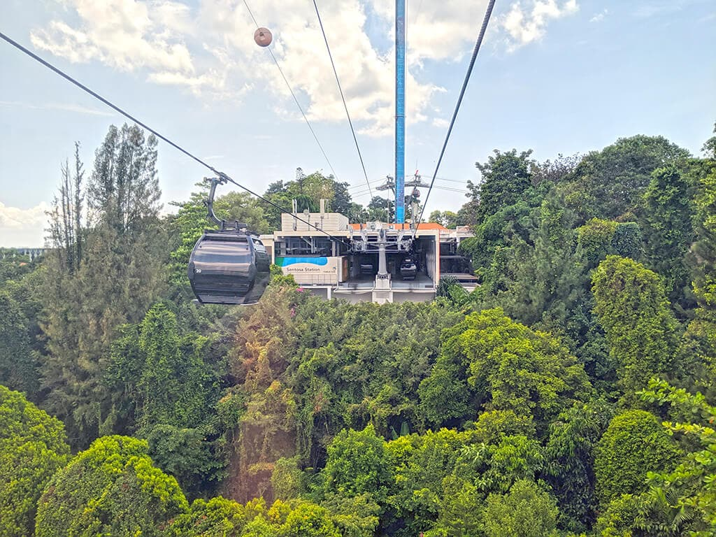 Sentosa Station on the Cable Car