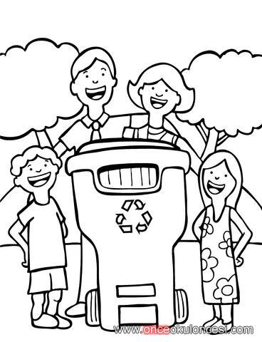 Temiz çevre-Temiz dünya-Geridönüşüm Boyamaları