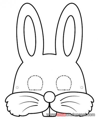 tavşan,aslan,fil,kurbağa ve kelebek maskeleri