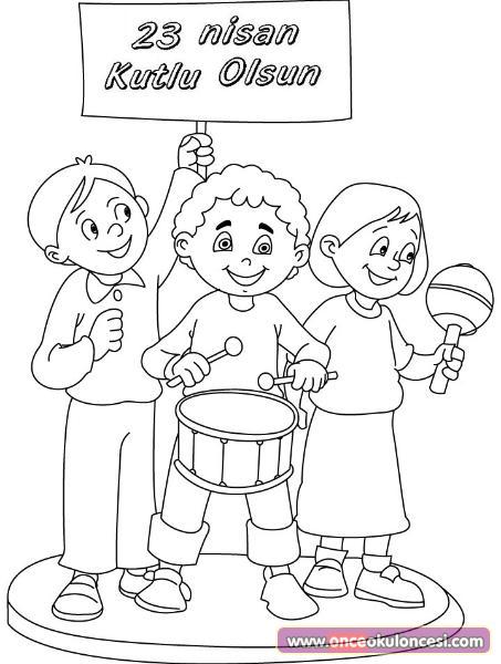 23 Nisan Çocuk Bayramı Boyama Sayfaları