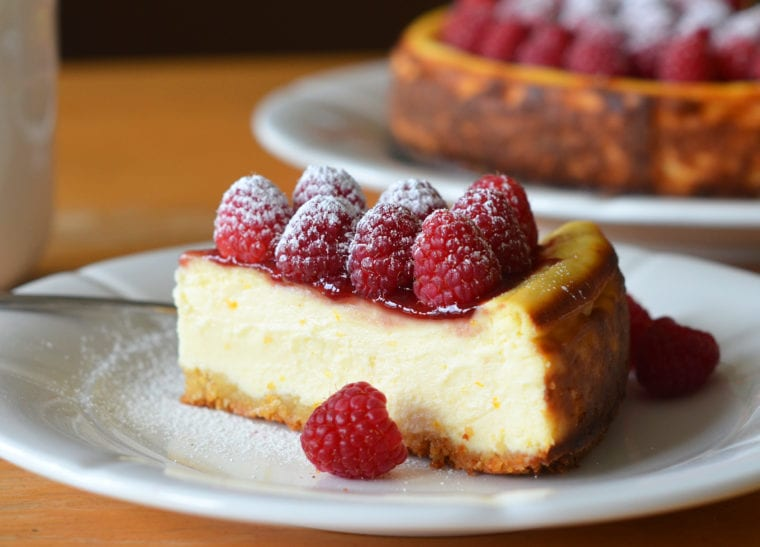 Ricotta Cheesecake With Fresh Raspberries Once Upon A Chef