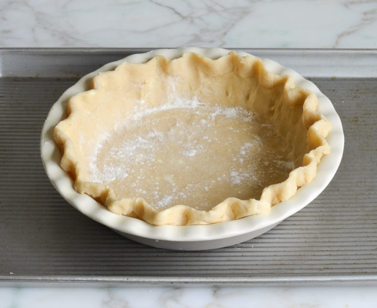 pie crust on baking sheet