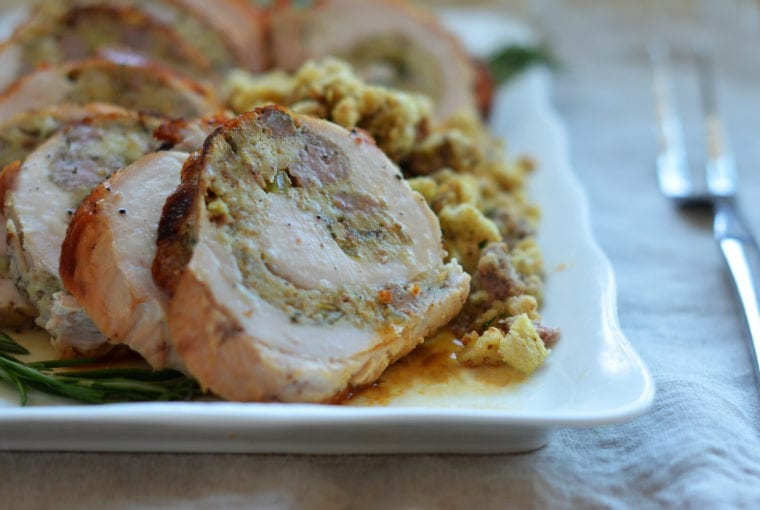 rolled turkey breast with