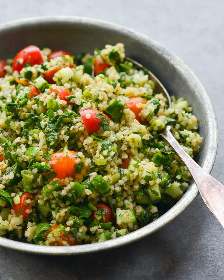 tabbouleh in serving dish