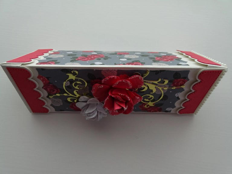 Floral Triangular Prism Box