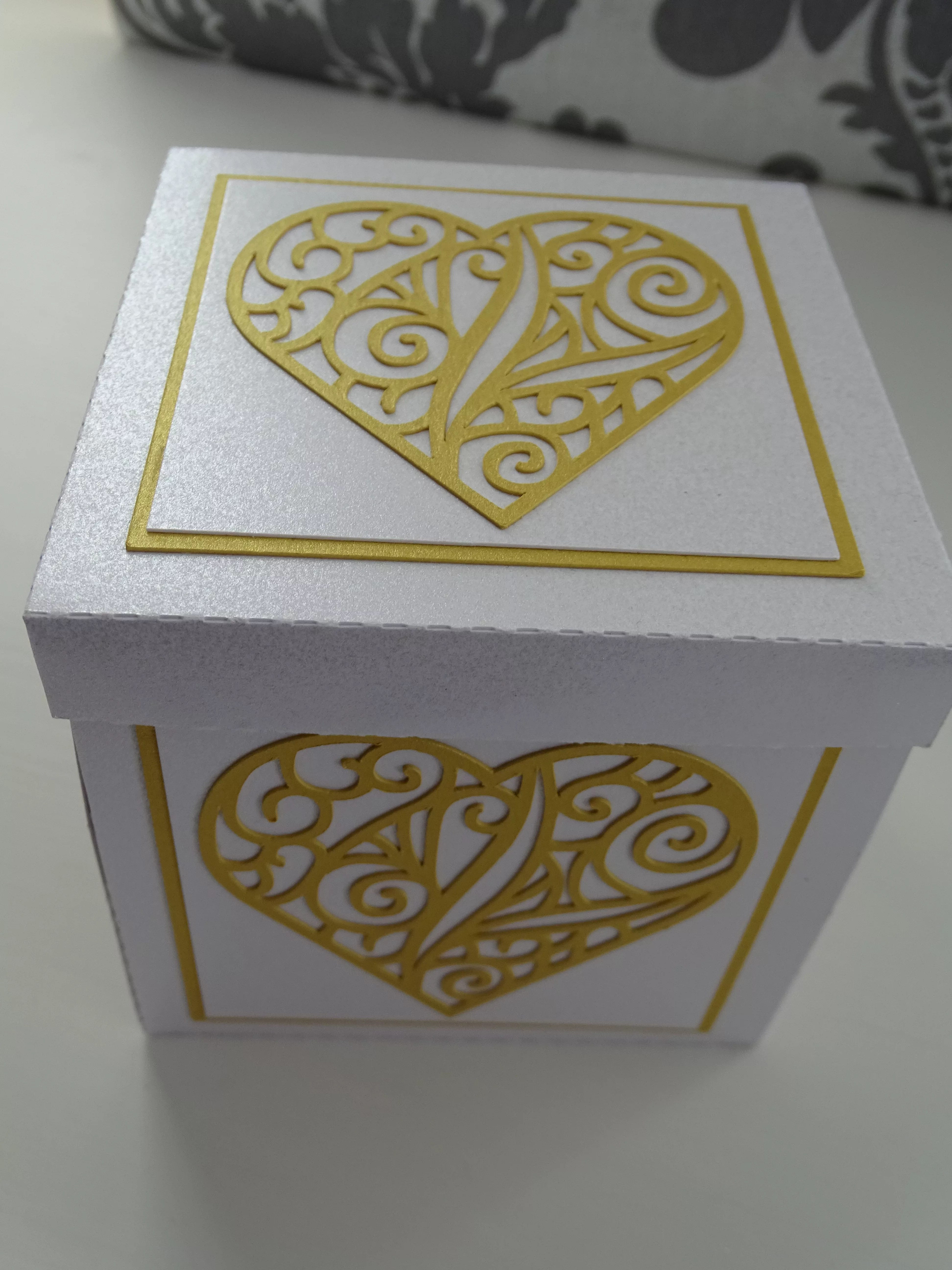 White And Gold Exploding Box
