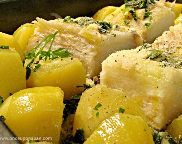 Baked codfish in the oven