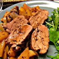 Pork tenderloin with apples and guinness