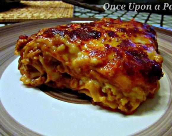 Italian lasagna made in Portugal