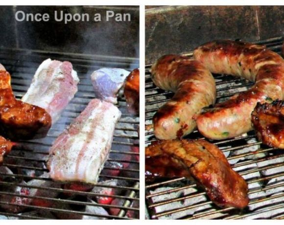 BBQ ribs, pork belly and sausages